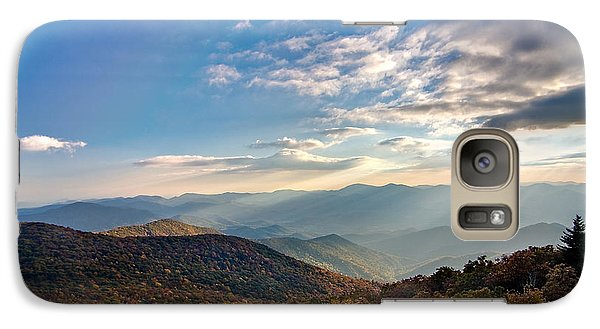 Galaxy Case featuring the photograph Sunset From The Bald by Dan Wells