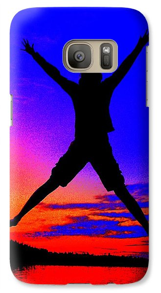 Galaxy Case featuring the photograph Sunset Jubilation by Patrick Witz