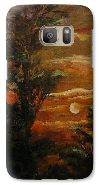 Galaxy Case featuring the painting Sunset  by Karen  Ferrand Carroll