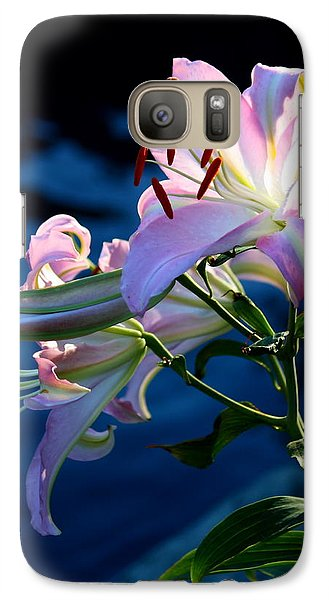 Galaxy Case featuring the photograph Sunset Lily by Patrick Witz