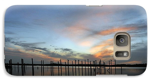 Galaxy Case featuring the photograph sunset marina Everglades by Dan Friend