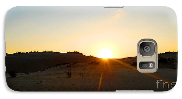 Galaxy Case featuring the photograph Sunset On The Dunes by Linda Mesibov
