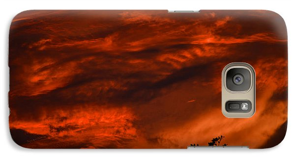 Galaxy Case featuring the photograph Sunset Over Altoona by DigiArt Diaries by Vicky B Fuller