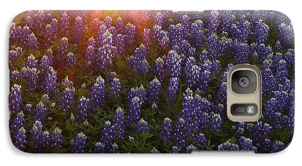 Galaxy Case featuring the photograph Sunset Over Bluebonnets by Susan Rovira