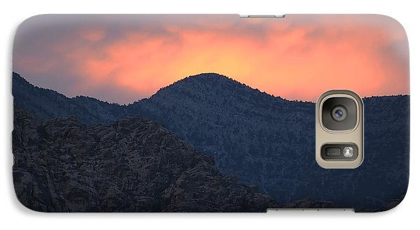 Galaxy Case featuring the photograph Sunset Over Red Rock by Art Whitton