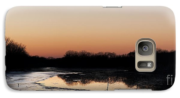 Galaxy Case featuring the photograph Sunset Over The Republican River by Art Whitton
