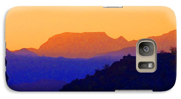 Galaxy Case featuring the digital art Sunset Over The Sierra Gigantes by Anne Mott