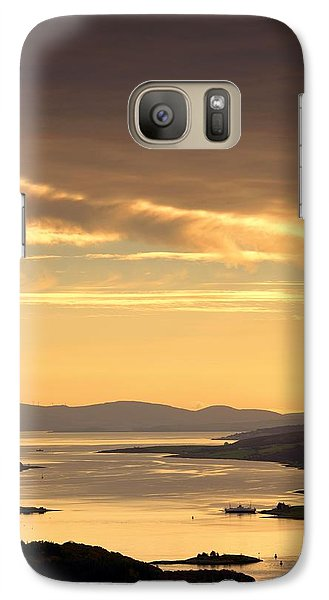 Galaxy Case featuring the photograph Sunset Over Water, Argyll And Bute by John Short