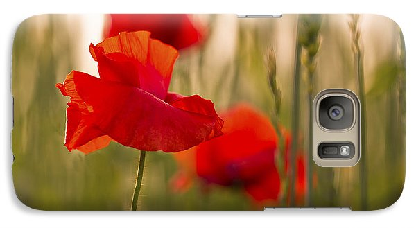 Sunset Poppies. Galaxy S7 Case by Clare Bambers