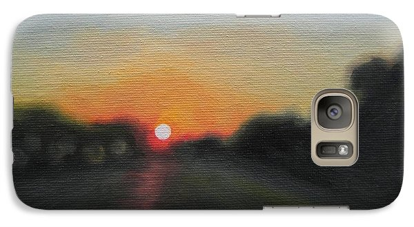 Galaxy Case featuring the painting Sunset Road by Jindra Noewi