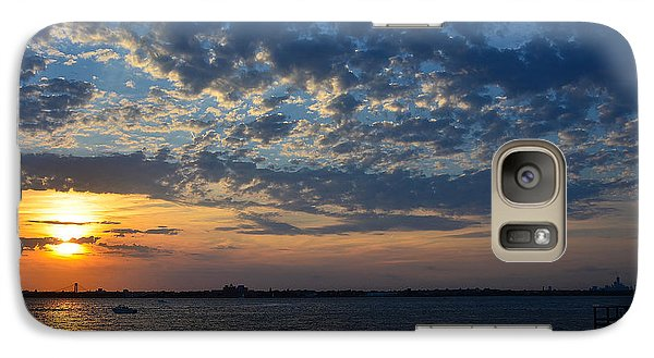 Galaxy Case featuring the photograph Sunset Rockaway Point Pier by Maureen E Ritter