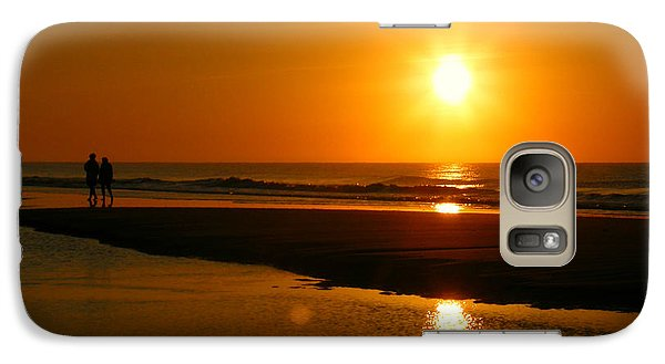 Galaxy Case featuring the photograph Sunset Stroll by Mark J Seefeldt