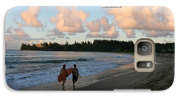 Galaxy Case featuring the photograph Sunset Surf by Lennie Green