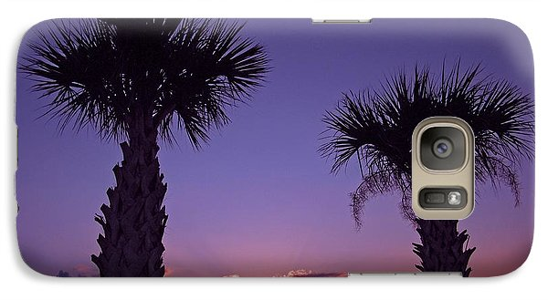 Galaxy Case featuring the photograph Sunset Through The Palms by Brian Wright