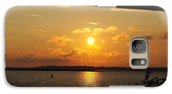 Galaxy Case featuring the photograph Sunset Through The Rails by Michael Frank Jr