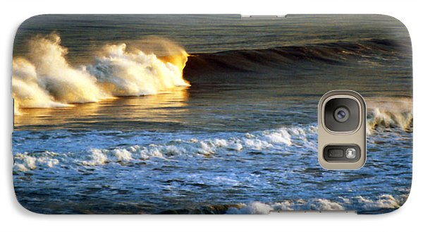 Galaxy Case featuring the photograph Sunset Wave Rockaway Beach Nyc by Maureen E Ritter
