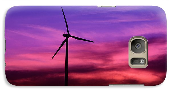 Galaxy Case featuring the photograph Sunset Windmill by Alyce Taylor