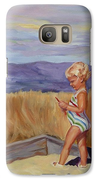 Galaxy Case featuring the painting Sunshine And Shadows by Carol Berning