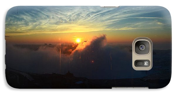 Galaxy Case featuring the photograph Sunsrise At Niagara by Pravine Chester