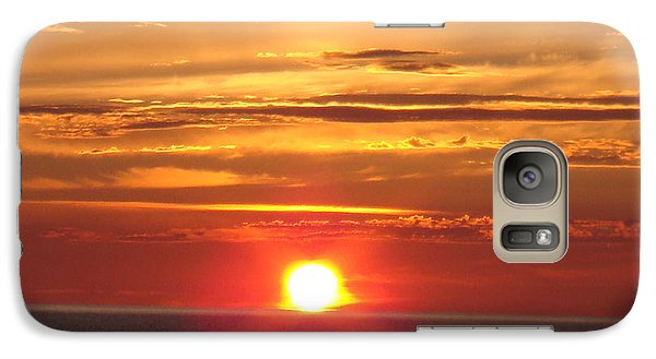 Galaxy Case featuring the photograph Superior Setting by Bonfire Photography