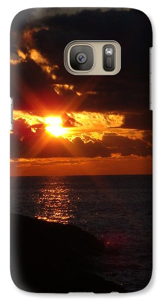 Galaxy Case featuring the photograph Superior Sunset by Bonfire Photography