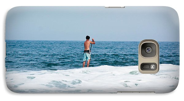 Galaxy Case featuring the photograph Surfer Waiting For Next Wave by Ann Murphy