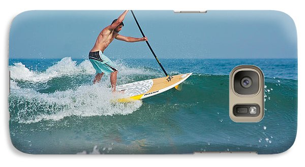 Galaxy Case featuring the photograph Surfing And Paddling by Ann Murphy