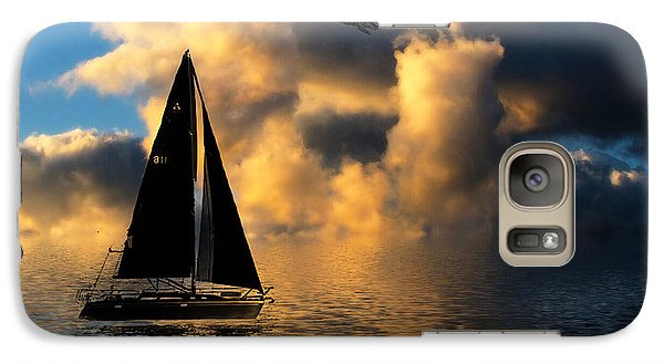 Galaxy Case featuring the photograph Surreal Seaside by Cindy Haggerty