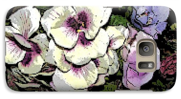 Galaxy Case featuring the photograph Surrounding Pansies by Pamela Hyde Wilson