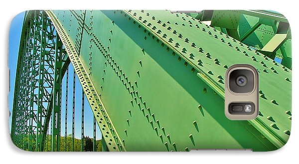 Galaxy Case featuring the photograph Suspension Bridge by Sherman Perry