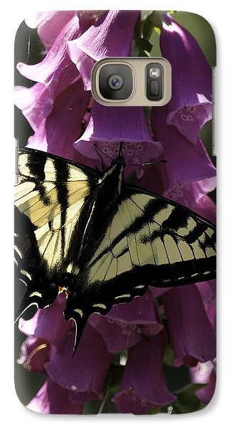 Galaxy Case featuring the photograph Swallowtail And Foxglove by Betty Depee