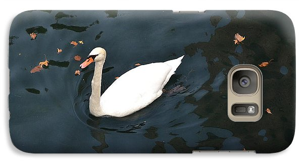 Galaxy Case featuring the photograph Swan In Autumn by Kathleen Pio