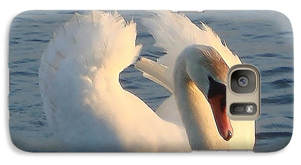 Galaxy Case featuring the photograph Swan by Katy Mei