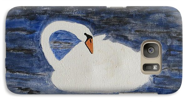 Galaxy Case featuring the painting Swan  by Sonali Gangane