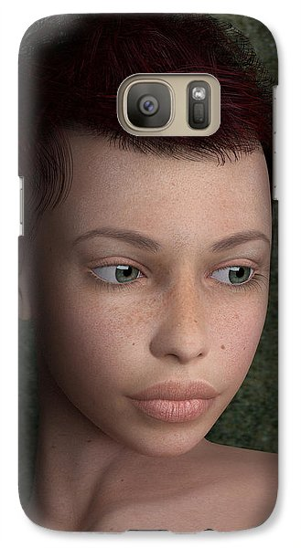 Galaxy Case featuring the painting Sweet Ingenue by Maynard Ellis
