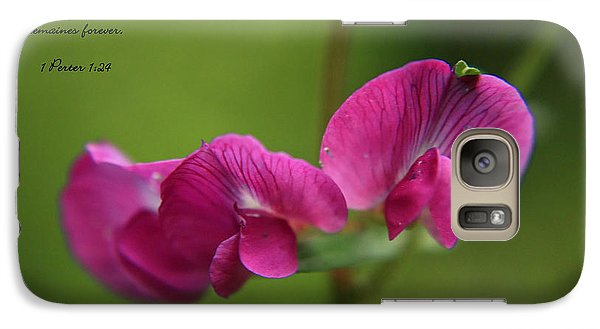 Galaxy Case featuring the photograph Sweet Pea Flower by Tyra  OBryant