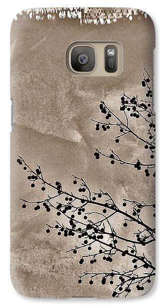 Galaxy Case featuring the photograph Sweetgum Sepia by Judi Bagwell