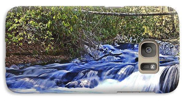Galaxy Case featuring the photograph Swiftly Flowing River by Susan Leggett