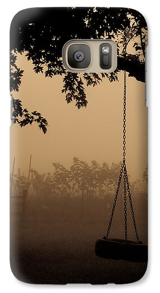 Galaxy Case featuring the photograph Swing In The Fog by Cheryl Baxter