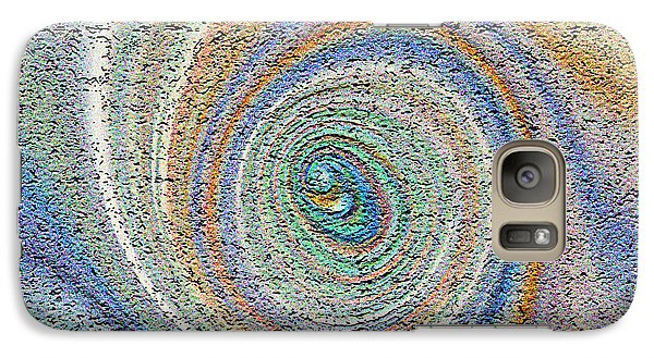 Galaxy Case featuring the painting Swirling Peacock Feather by Richard James Digance