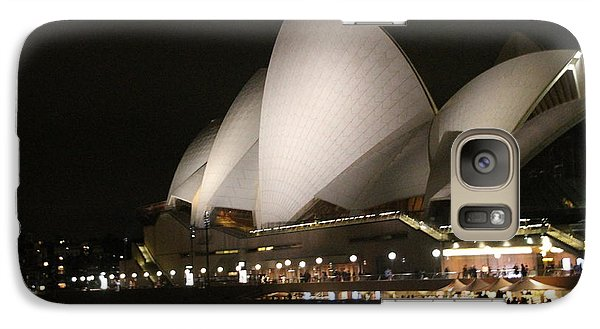 Galaxy Case featuring the photograph Sydney Opera House At Night by Laurel Talabere
