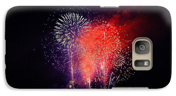 Galaxy Case featuring the photograph Tahoe Fireworks. by Mitch Shindelbower