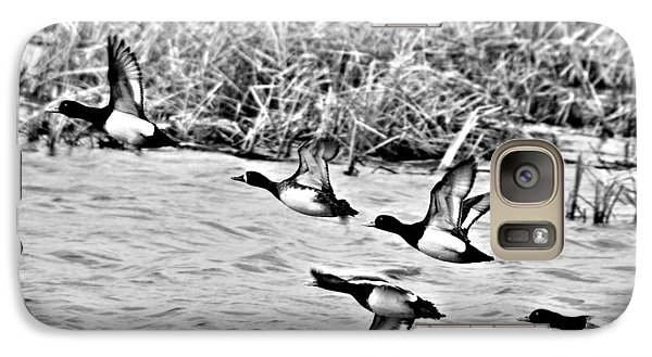 Galaxy Case featuring the photograph Take Flight No. 2 In Black And White by Janice Adomeit