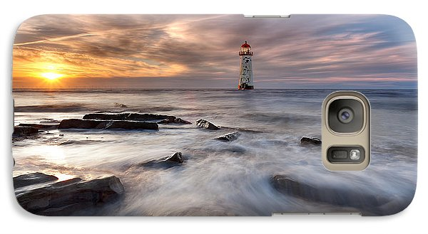 Galaxy Case featuring the photograph Talacre Lighthouse  by Beverly Cash