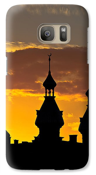 Galaxy Case featuring the photograph Tampa Bay Hotel Minarets At Sundown by Ed Gleichman