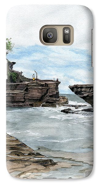 Galaxy Case featuring the painting Tanah Lot Temple II Bali Indonesia by Melly Terpening