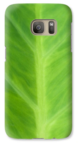 Galaxy Case featuring the photograph Taro Or Elephant Ear Leaf by Denise Beverly