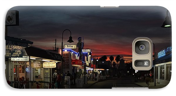 Galaxy Case featuring the photograph Tarpon Springs After Sundown by Ed Gleichman