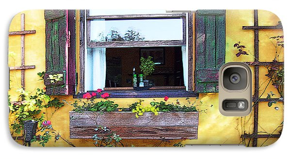 Galaxy Case featuring the photograph Tavern Window by Ginny Schmidt