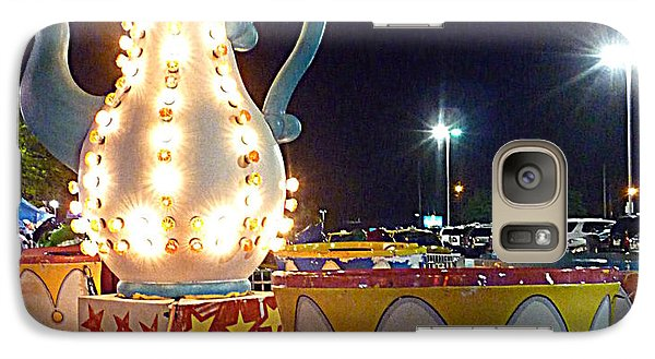 Galaxy Case featuring the photograph Tea Pot And Cups Ride by Renee Trenholm